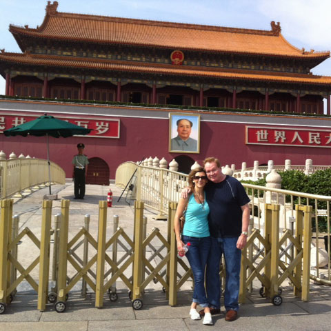 Gary and Cindy in China
